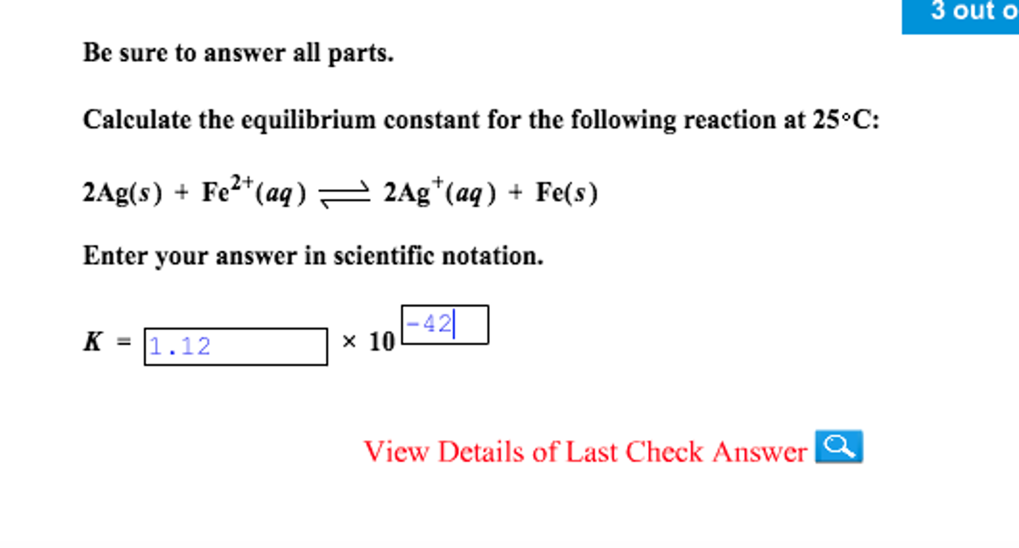 Chemistry archive november 12 2016 chegg calculate the equilibrium constant for the followi falaconquin