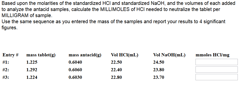 hcl and mg ib lab report Bellevue college | chem& 161 1 titration of aspirin tablets in this lab, you will determine the percent purity of two commercially available aspiring tablets using an.