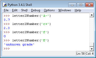 FOR PYTHON: Write A Function Letter2number() That     | Chegg com