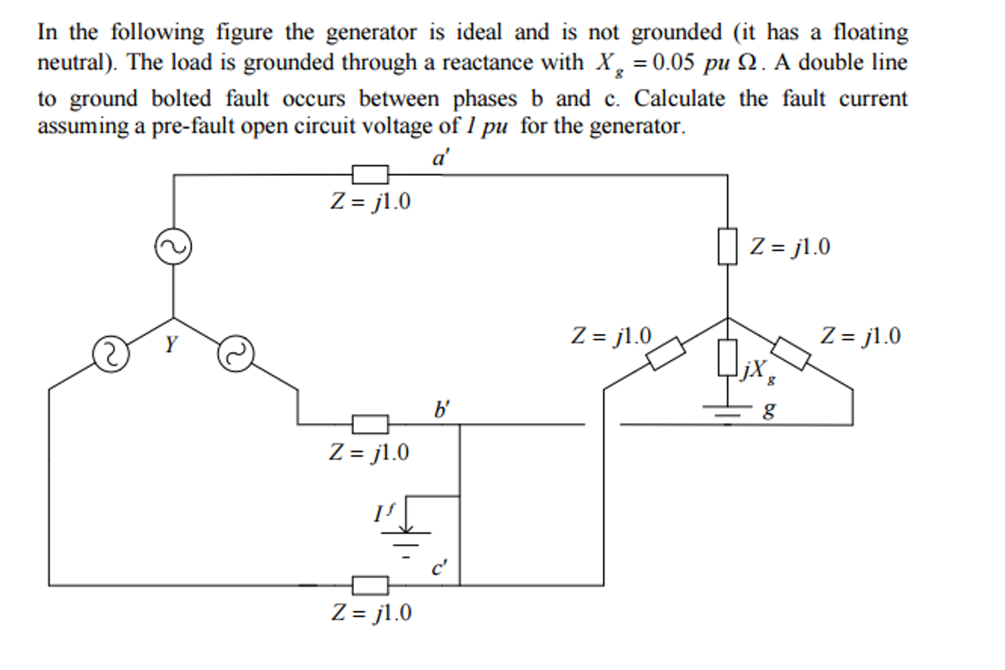 Solved: In The Following Figure The Generator Is Ideal And