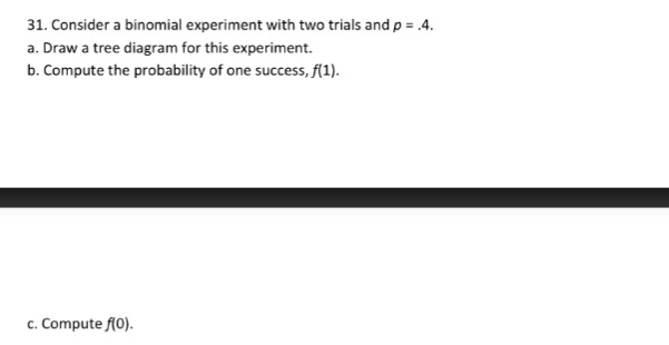 Solved Consider A Binomial Experiment With Two Trials And