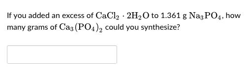 cacl2 2h2o