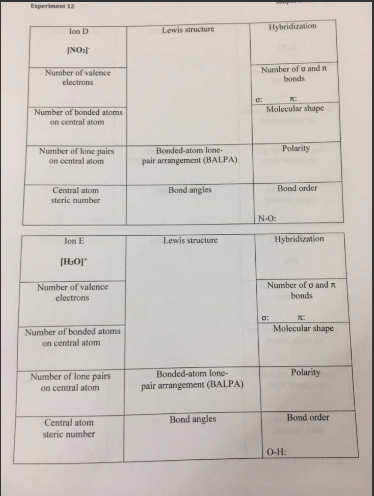 Solved: I I Can Fill Out The Whole Left Column And The Lew