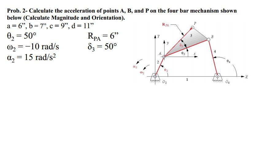 Calculate the velocity and acceleration of point g chegg show transcribed image text calculate the velocity and acceleration of point g on the four bar mechanisms calculate magnitude and orientation ccuart Images