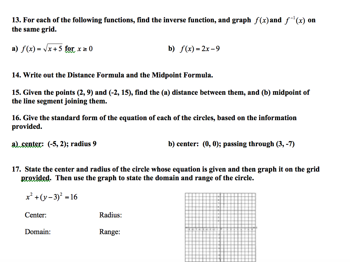Precalculus archive december 06 2015 chegg for each of the following functions find the inve falaconquin