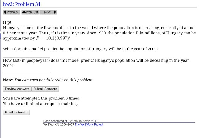 Solved: Hw3: Problem 34 Previous | Ahob  List E-Next (1 Pt