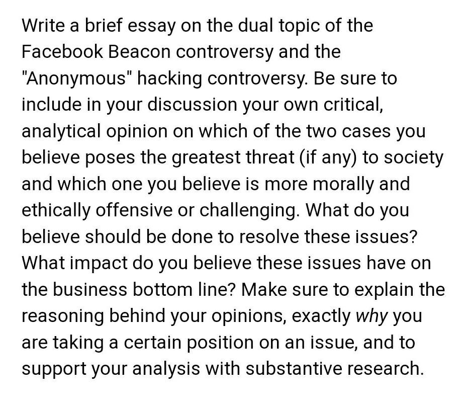 Ethics and professionalism essay
