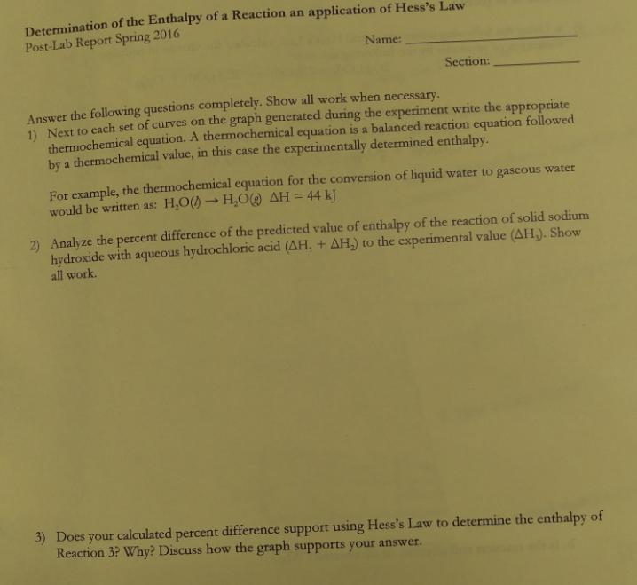 Write a balanced thermochemical equation