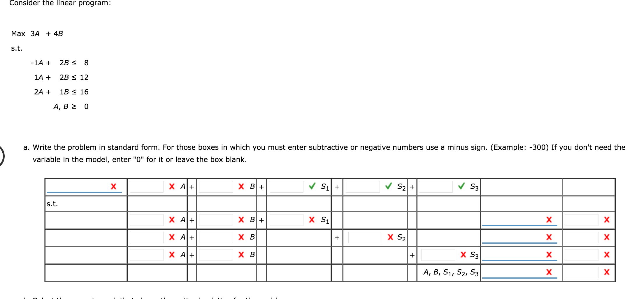 Consider The Linear Program Max 3a 45 1a 2b Chegg