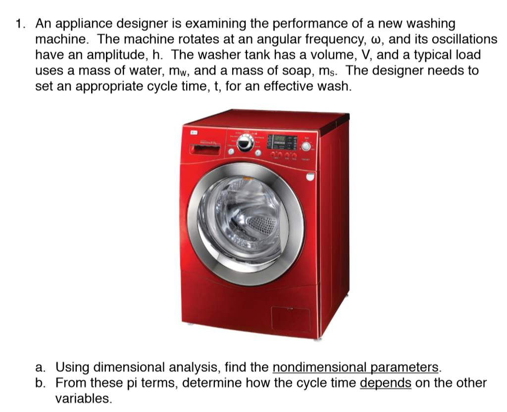 Solved: 1. An Appliance Designer Is Examining The Performa ...