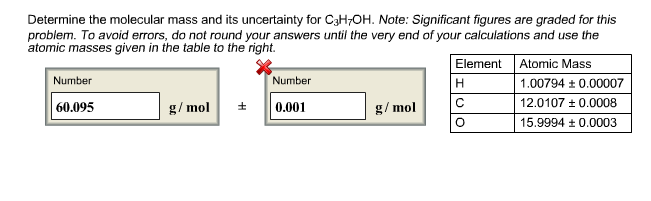 I Was Able To Solve For The Molecular Mass But Can Chegg