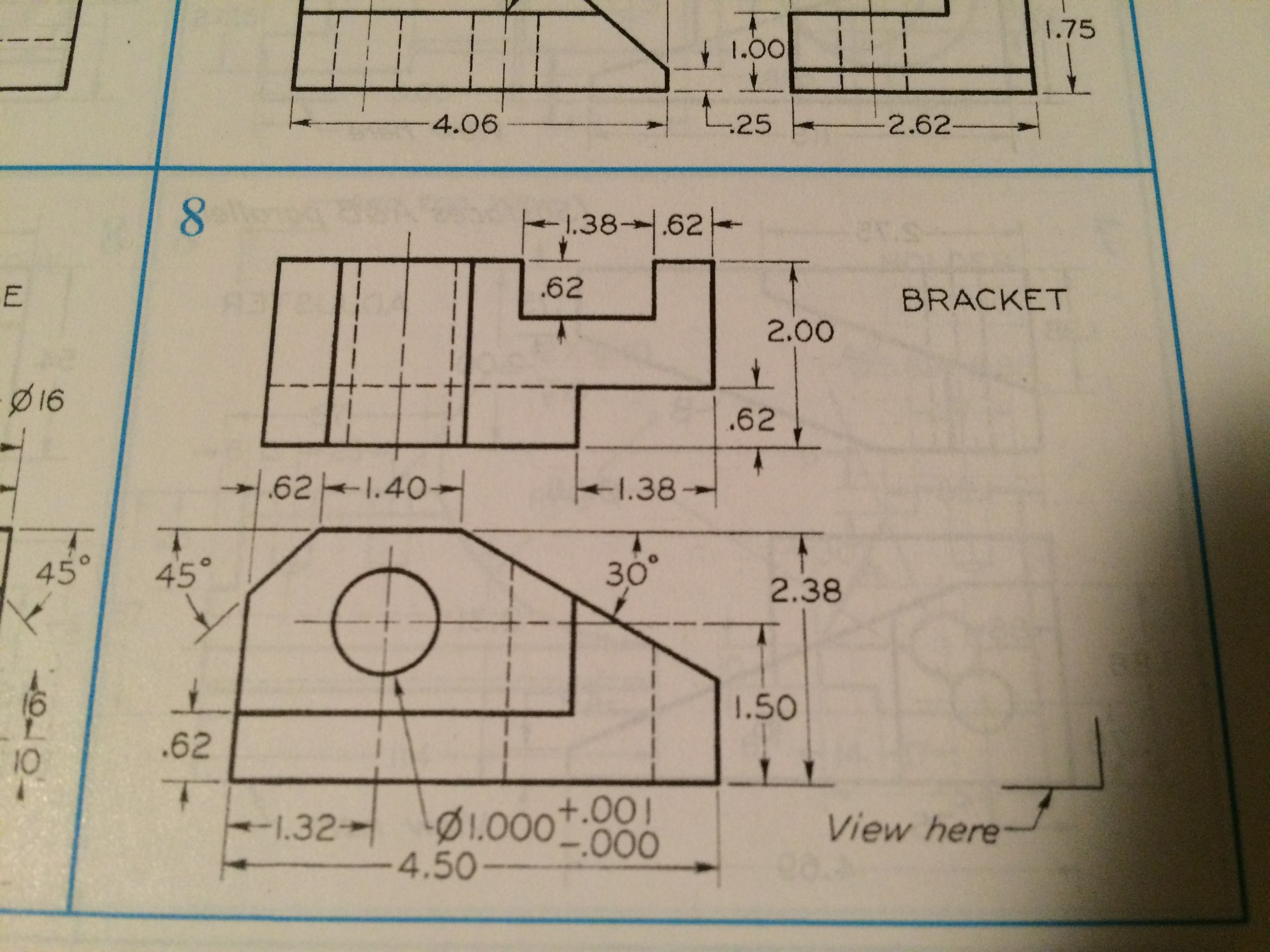 Solved: Draw Isometric Pictorials Of: 1) Orthographic Proj ...