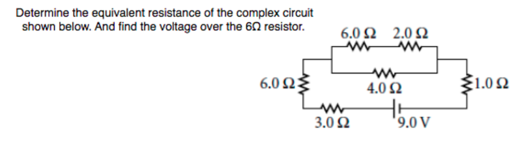 Solved: Determine The Equivalent Resistance Of The Complex ...