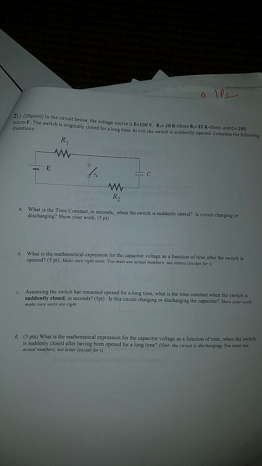 format for writing a reference letter%0A      zopoint  In the circuit below  the voltage source is E