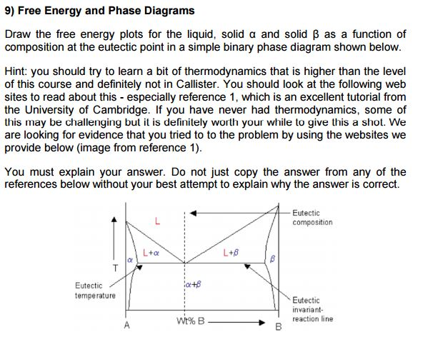 Draw the free energy plots for the liquid solid a chegg 9 free energy and phase diagrams draw the free energy plots for the liquid ccuart Images