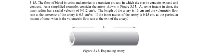 The flow of blood m veins and arteries is a transi