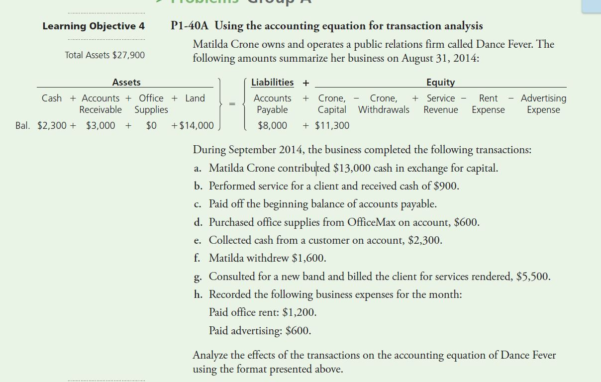 accounting equation 2 Video created by university of illinois at urbana-champaign for the course accounting analysis i: the role of accounting as an information system we will use the accounting equation to.
