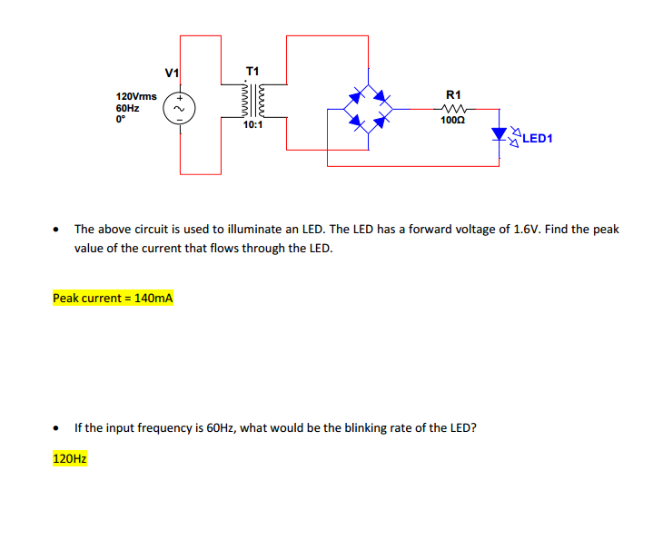 Solved: The Above Circuit Is Used To Illuminate An LED  Th
