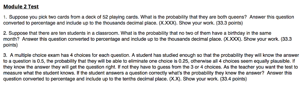Solved Module 2 Test 1 Suppose You Pick Two Cards From A