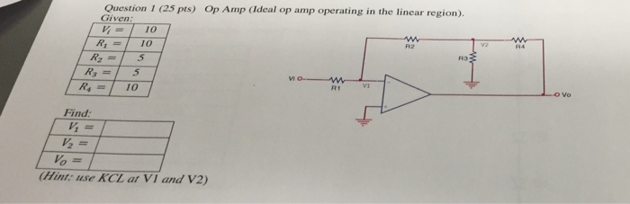 Op Amp (Ideal op amp operating in the linear regio