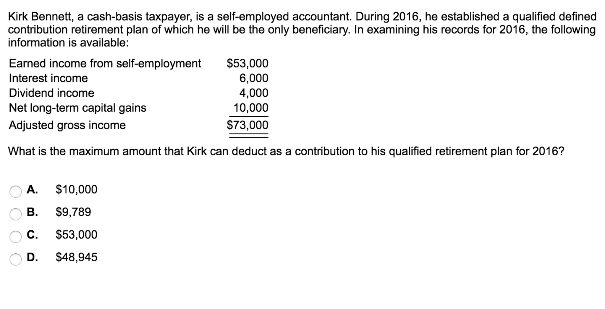 solved: kirk bennett, a cash-basis taxpayer, is a self-emp