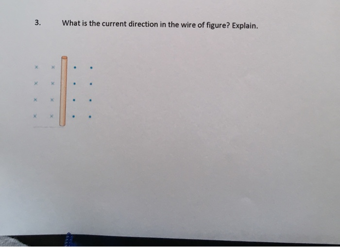 Solved: What Is The Current Direction In The Wire Of Figur ...