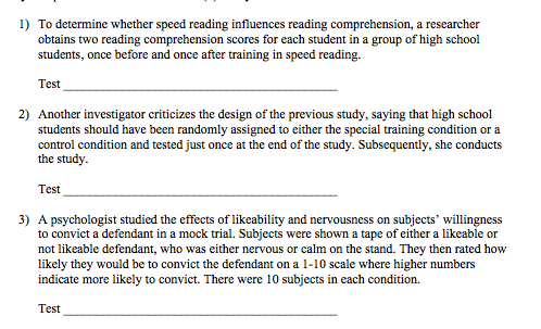 Solved: 1) To Determine Whether Speed Reading Influences R