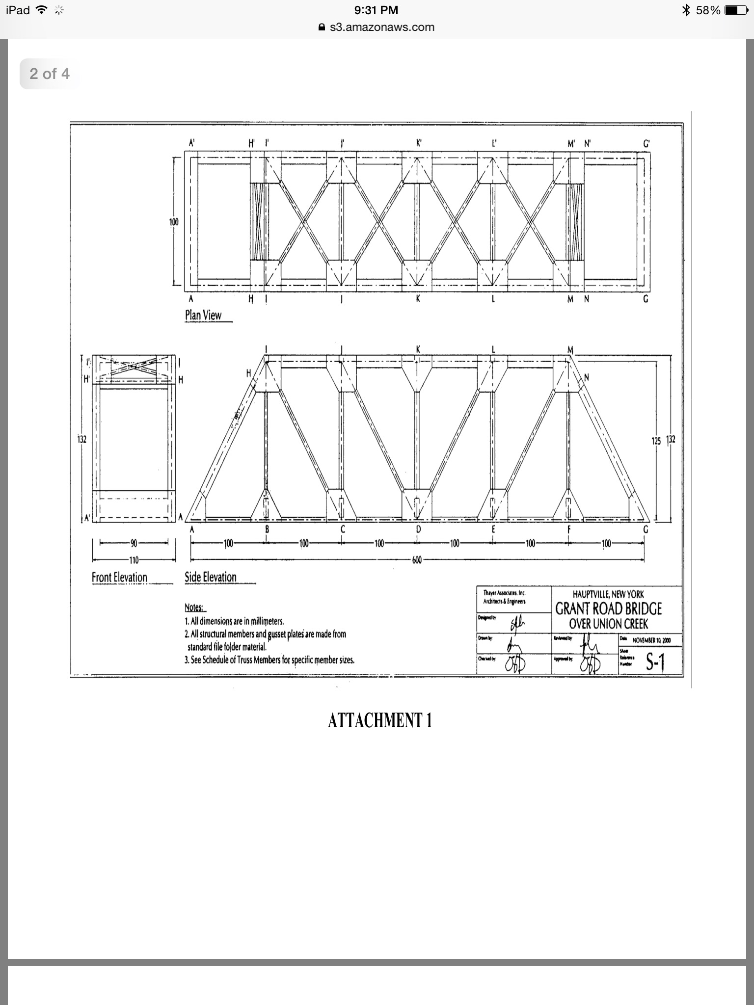 1using The Method Of Joints Find Internal Fo Truss Bridge Diagram Through