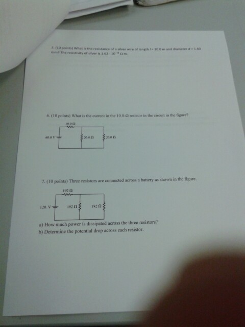 Solved: What Is The Resistance Of The Wire Of Length L = 2 ...