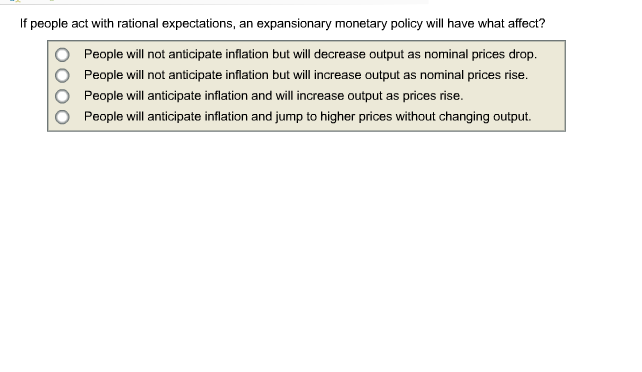 rational expectations and inflation