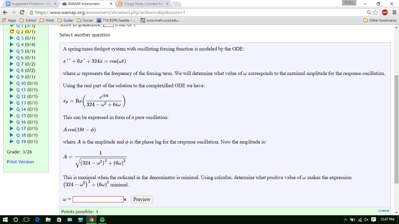 w2 form ucsd  Solved: Suggested Problems Go X WAMAP Assessment X Chegg S ...