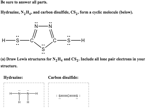 Solved Be Sure To Answer All Parts Hydrazine N2h4 And