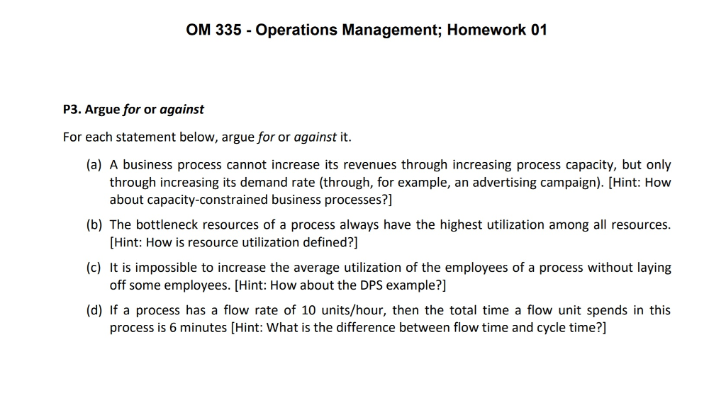 operations management 3 essay Operations management assignment 3 q:difference between different types of eoq economic order quantity: the economic order quantity (eoq) is the fixed order quantity (q) that minimizes the total annual costs of placing orders and holding inventory (tc.