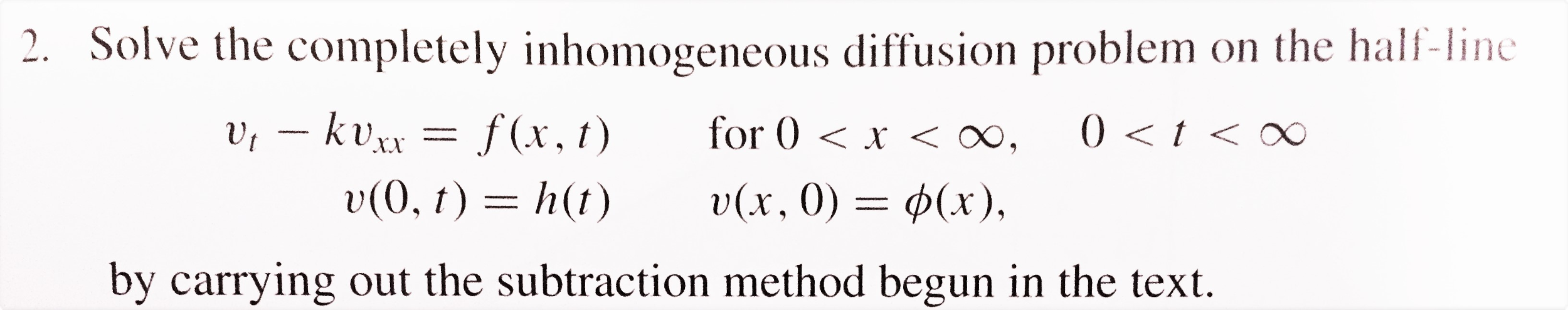 Partial differential equations problem from Walter