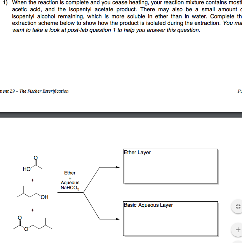 Solved: D  Postlab Questions 1) During The Workup, You Add