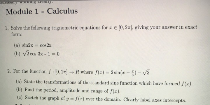Statistics and probability archive january 21 2018 chegg module 1 calculus 1 solve the following trignometric equations for x e 02 fandeluxe Gallery