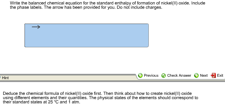 Solved Write The Balanced Chemical Equation For The Stand