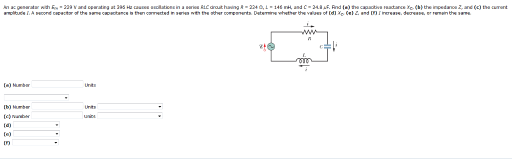 Solved: An Ac Generator With E -229 V And Operating At 396