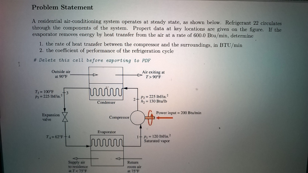 Solved: Problem Statement A Residential Air-conditioning S