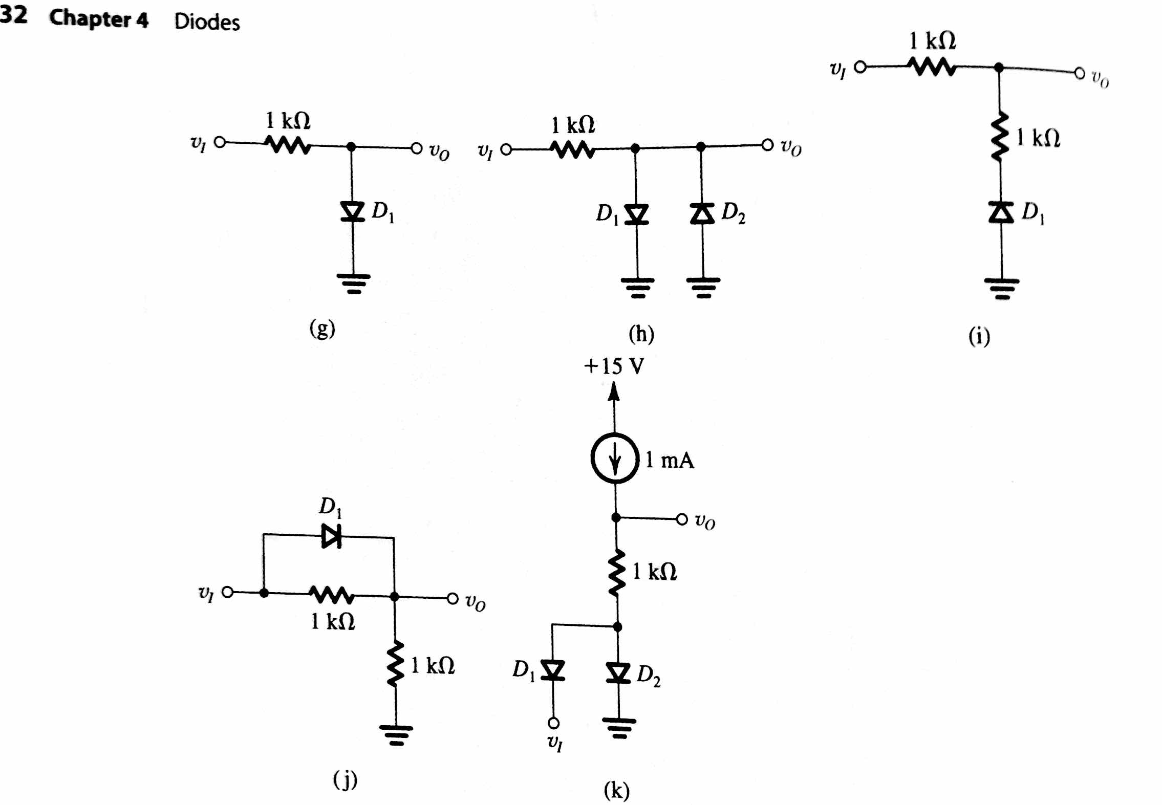 solved in each of the ideal diode circuits shown v1 is a rh chegg com