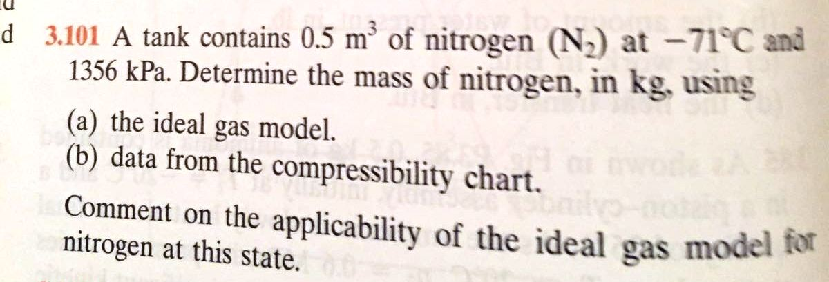 A Tank Contains 05 M3 Of Nitrogen N2 At 71 De