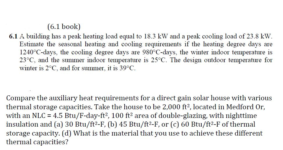 Solved: The Book Is Solar Energy Engineering (second Editi