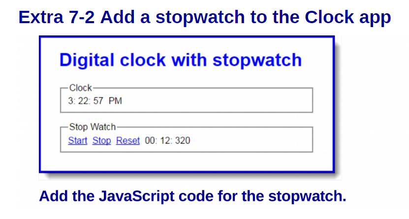Solved: //JavaScript Assignment\\ Add A Stopwatch To The C
