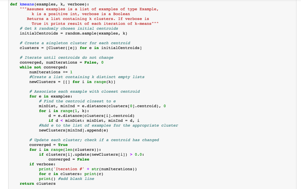 Here Is The Python Code For K-means Clustering Fro