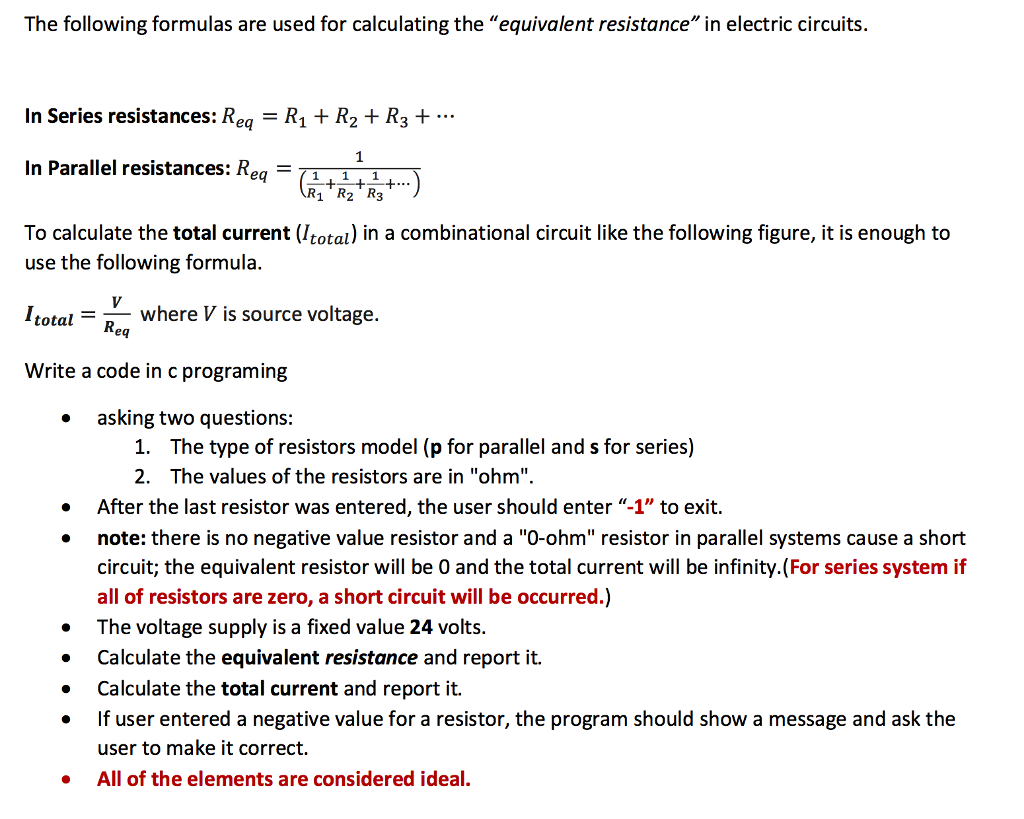 Solved: The Following Formulas Are Used For Calculating Th ...