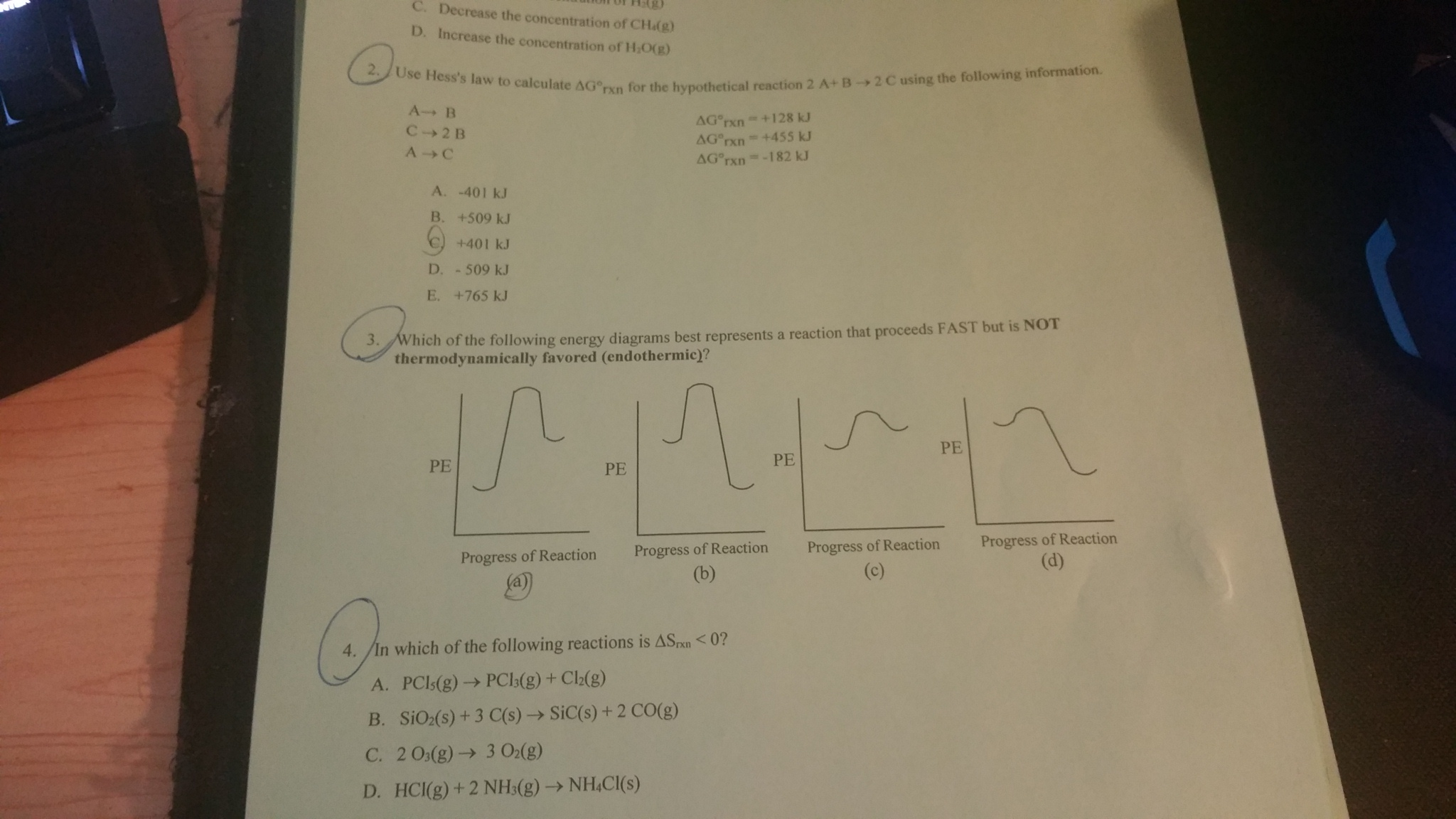 Solved Use Hesss Law To Calculate Delta G Degree Rxn For Design