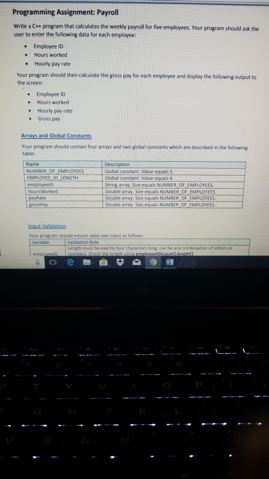 Solved: Programming Assignment: Payroll Write A C++ Progra