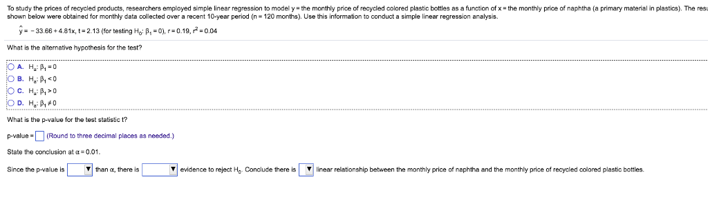 Solved: To Study The Prices Of Recycled Products, Research