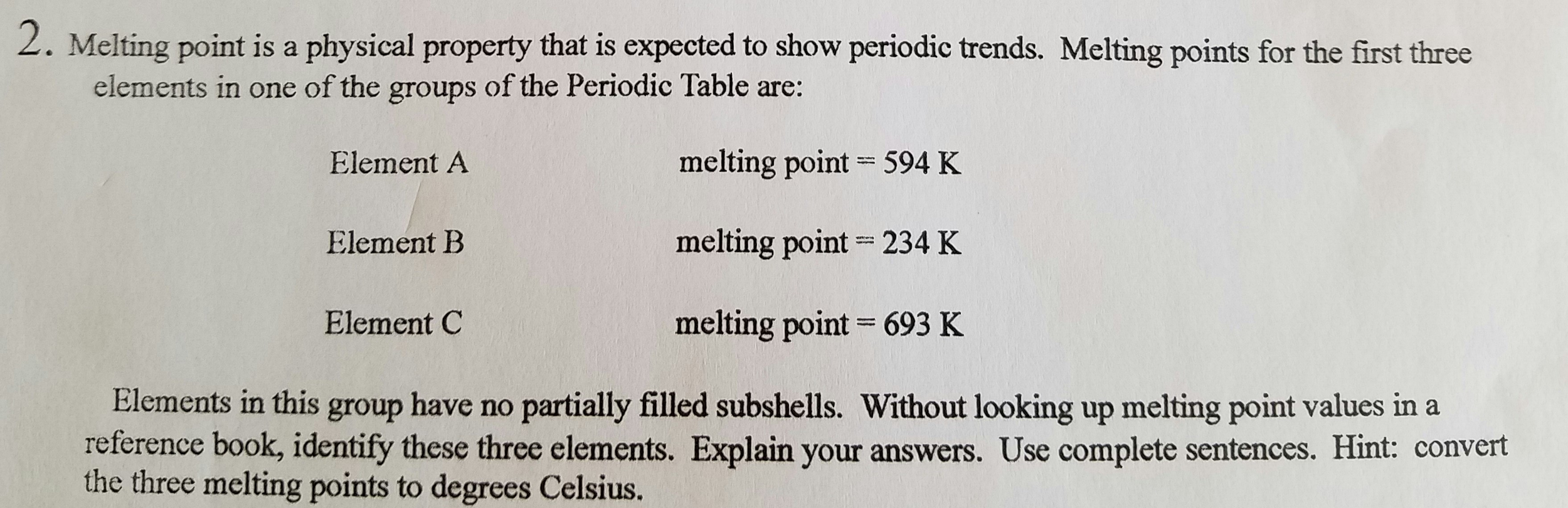 Melting Point Is A Physical Property That Is Expec