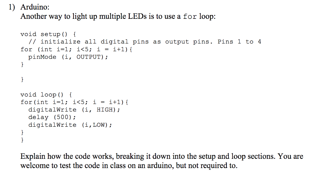 Solved: 1) Arduino: Another Way To Light Up Multiple LEDs